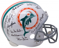 1972 Miami Dolphins Full-Size Helmet Team Signed by (21) with Larry Csonka, Bob Griese, Mercury Morris, Jake Scott (JSA COA) at PristineAuction.com