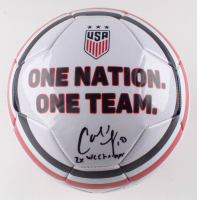 "Carli Lloyd Signed Team USA Logo Soccer Ball Inscribed ""2X WC Champs (JSA COA) at PristineAuction.com"