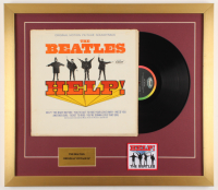 """The Beatles """"Help!"""" 21x24 Custom Framed Vinyl Record Display with Beatles Patch at PristineAuction.com"""