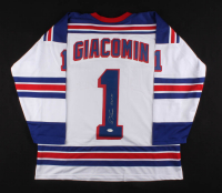 "Eddie Giacomin Signed Jersey Inscribred ""H.O.F. 87"" (JSA COA) at PristineAuction.com"
