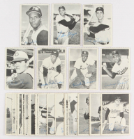 Lot of (35) 1969 Topps Deckle Edge Baseball Cards with #12 Rod Carew, #21 Pete Rose, #1 Brooks Robinson, #29 Bob Gibson, #33 Willie Mays, #27 Bob Clemente, #4 Carl Yastrzemski at PristineAuction.com