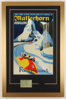 "Disneyland ""Matterhorn"" 17x26 Custom Framed Print with Parking Pass & Coin at PristineAuction.com"