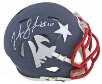 Josh Gordon Signed New England Patriots AMP Alternate Speed Mini Helmet (Beckett COA) at PristineAuction.com