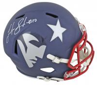Josh Gordon Signed New England Patriots Full-Size AMP Alternate Speed Helmet (Beckett COA) at PristineAuction.com