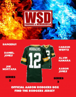 WSD Official Aaron Rodgers Box Football Jersey Mystery Box Series 2 (Find the Rodgers Jersey!) at PristineAuction.com