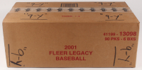2001 Fleer Legacy Baseball Card Hobby Box Case with (6) Boxes at PristineAuction.com