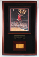Michael Jordan Signed LE Chicago Bulls 31x48x5 Custom Framed Shadowbox Display with Piece of Game-Used Hardwood Floor (UDA COA) at PristineAuction.com