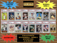 Icon Authentic 2019 Baseball Mystery Box- Series 2 (100+ Cards per Box) at PristineAuction.com