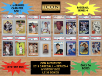 Icon Authentic 2019 Baseball Mystery Box- Series 4 (100+ Cards per Box) at PristineAuction.com