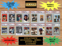Icon Authentic 2019 Baseball Mystery Box- Series 5 (100+ Cards per Box) at PristineAuction.com