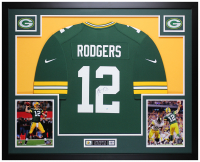 Aaron Rodgers Signed 35x43 Custom Framed Jersey (Steiner Hologram) at PristineAuction.com