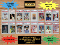 Icon Authentic 2019 Baseball Mystery Box- Series 6 (100+ Cards per Box) at PristineAuction.com