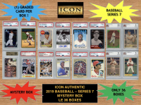 Icon Authentic 2019 Baseball Mystery Box- Series 7 (100+ Cards per Box) at PristineAuction.com