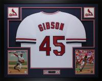 Bob Gibson Signed 35x43 Custom Framed Jersey (JSA COA) at PristineAuction.com