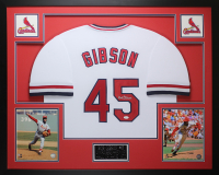 Bob Gibson Signed 35x43 Custom Framed Jersey (JSA COA) at PristineAuction.com