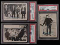 Lot of (3) PSA Graded Authentic 1964 Beatles Black & White Cards with #16 John, #55 John, George & #57 John, Paul, George, Ringo at PristineAuction.com