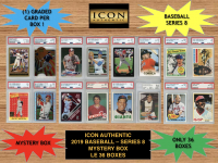 Icon Authentic 2019 Baseball Mystery Box- Series 8 (100+ Cards per Box) at PristineAuction.com