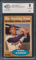 1962 Topps #394 Hank Aaron All-Star (BCCG 8) at PristineAuction.com
