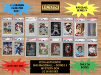 Icon Authentic 2019 Baseball Mystery Box- Series 9 (100+ Cards per Box) at PristineAuction.com