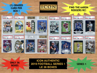 Icon Authentic 2019 Football Mystery Box- Series 1 at PristineAuction.com
