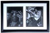 Jimi Hendrix 17x28 Custom Framed Photo Display at PristineAuction.com