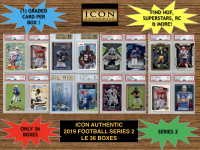 Icon Authentic 2019 Football Mystery Box- Series 2 at PristineAuction.com