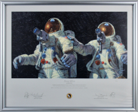 Alan Bean & Charles Conrad Jr. Signed Apollo 12 24x29 LE Custom Framed Art Print Display (Beckett LOA) at PristineAuction.com