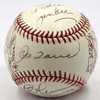 2006 New York Yankees OML Baseball Team-Signed by (18) with Derek Jeter, Robinson Cano, Gary Sheffield, Hideki Matsui (JSA LOA) at PristineAuction.com
