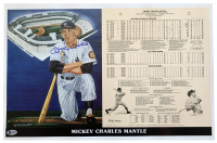 Mickey Mantle Signed LE New York Yankees 14x21 Career Highlight Stat Print (Beckett LOA) at PristineAuction.com