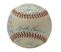 1956 Pittsburgh Pirates ONL Baseball Team-Signed By (24) With Roberto Clemente, Frank Thomas, Dick Hall, Danny Murtaugh, Bill Virdon, Bob Friend, Bobby Bragan (Beckett LOA) at PristineAuction.com
