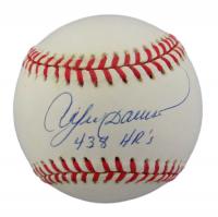 "Andre Dawson Signed ONL Baseball Inscribed ""438 HR's"" (JSA COA) at PristineAuction.com"