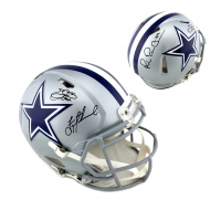 "Troy Aikman, Emmitt Smith & Michael ""Playmaker"" Irvin Signed Dallas Cowboys Full-Size Authentic On-Field Speed Helmet (Beckett COA & Prova COA) at PristineAuction.com"