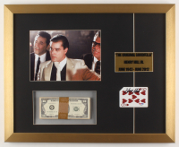 """Henry Hill Signed """"Goodfellas"""" 17x21 Custom Framed Playing Card Display with Prop Money (PSA COA) at PristineAuction.com"""