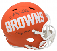 """Nick Chubb Signed Cleveland Browns Full-Size AMP Alternate Speed Helmet Inscribed """"Dawg Pound"""" (JSA COA) at PristineAuction.com"""