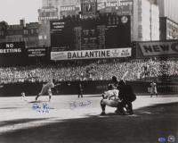 "Yogi Berra & Don Larsen Signed New York Yankees 16x20 Photo Inscribed ""10-8-56"" (SOP COA & MLB Hologram) at PristineAuction.com"