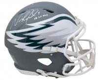"Nick Foles Signed Philadelphia Eagles Full-Size Authentic On-Field AMP Alternate Speed Helmet Inscribed ""SB LII MVP"" (Fanatics Hologram) at PristineAuction.com"