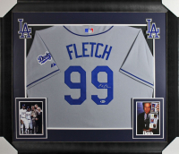 Chevy Chase Signed Dodgers 32x37 Custom Framed Jersey Display (Beckett COA) at PristineAuction.com