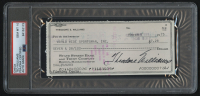 Ted Williams Signed Personal Bank Check (PSA Encapsulated) at PristineAuction.com