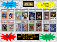 ICON AUTHENTIC  2019 FOOTBALL MYSTERY BOX SERIES - 9 at PristineAuction.com