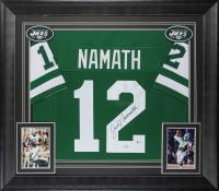 Joe Namath Signed 32x37 Custom Framed Jersey Display (Beckett COA) at PristineAuction.com