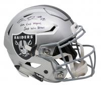 "Josh Jacobs Signed Oakland Raiders Full-Size Authentic On-Field Speedflex Helmet Inscribed ""Viva Las Vegas"" & ""Just Win Baby""  (Beckett COA & Jacobs Hologram) at PristineAuction.com"