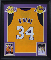 Shaquille O'Neal Signed 32x37 Custom Framed Jersey Display (Beckett COA) at PristineAuction.com
