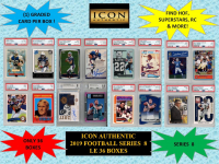 ICON AUTHENTIC  2019 FOOTBALL MYSTERY BOX SERIES - 8 at PristineAuction.com