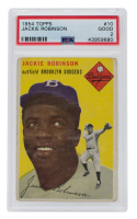 1954 Topps #10 Jackie Robinson (PSA 2) at PristineAuction.com
