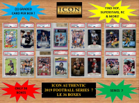 ICON AUTHENTIC  2019 FOOTBALL MYSTERY BOX SERIES - 7 at PristineAuction.com