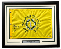 Phil Mickelson Signed The Memorial Tournament 21x27 Custom Framed Pin Flag Display (Beckett COA) at PristineAuction.com