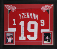 Steve Yzerman Signed 32x37 Custom Framed Jersey Display (Beckett COA) at PristineAuction.com