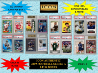 ICON AUTHENTIC  2019 FOOTBALL MYSTERY BOX SERIES - 6 at PristineAuction.com