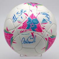 Hope Solo, Abby Wambach & Alex Morgan Signed Adidas 2012 London Olympics Soccer Ball (JSA LOA) at PristineAuction.com