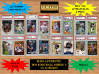 ICON AUTHENTIC  2019 FOOTBALL MYSTERY BOX SERIES - 5 at PristineAuction.com